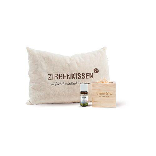 ZIRBENFAMILIE Original Zirben Gute-Nacht-Set beige