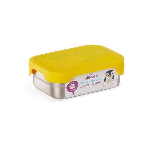 AFFENZAHN Edelstahl-Brotdose  gelb   Kinder   AFZ-LBX-001-001