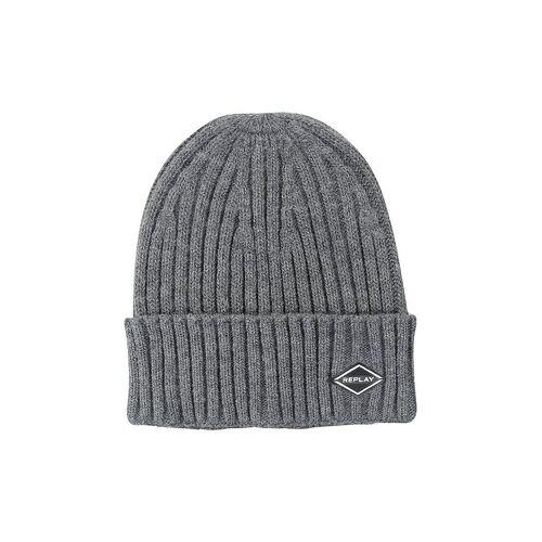 REPLAY Beanie - Mütze grau
