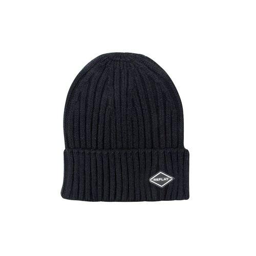 REPLAY Beanie - Mütze blau