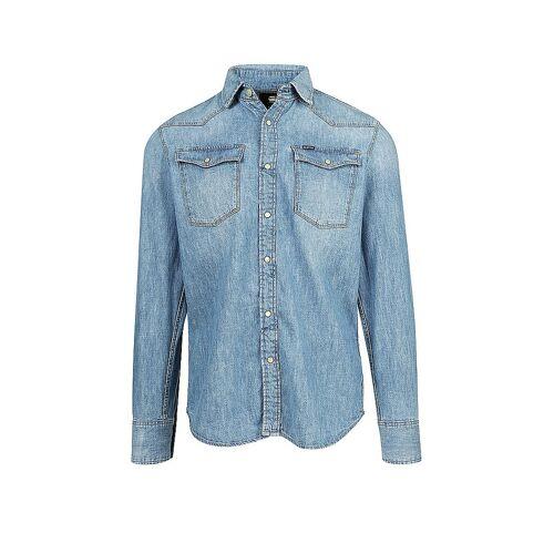 G-STAR RAW Jeanshemd Slim-Fit blau   S