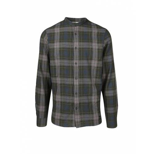 NOWADAYS Hemd Modern Fit  Check  olive   L