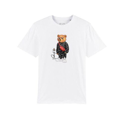 "BARON FILOU T Shirt "" Bär Shisha "" weiß   Herren   Größe: L   MOT-WH-11"