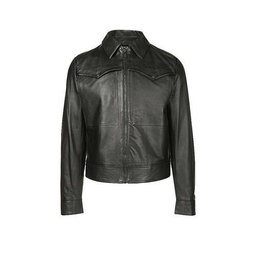 VERSACE Lederjacke schwarz   Herren   Größe: 48   ECGWA9P1 40352