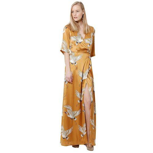ANELIA PESCHEV Abendkleid Paradise Bird gold   38