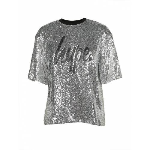HYPE T-Shirt Cropped-Fit  silber   M