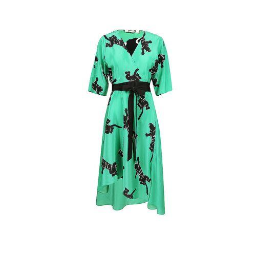 DIANE VON FUERSTENBERG Seidenkleid Eloise grün   Damen   Größe: M   DW4O013