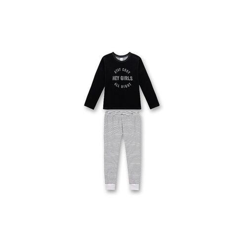 SANETTA Mädchen Pyjama Hey Girls schwarz   164