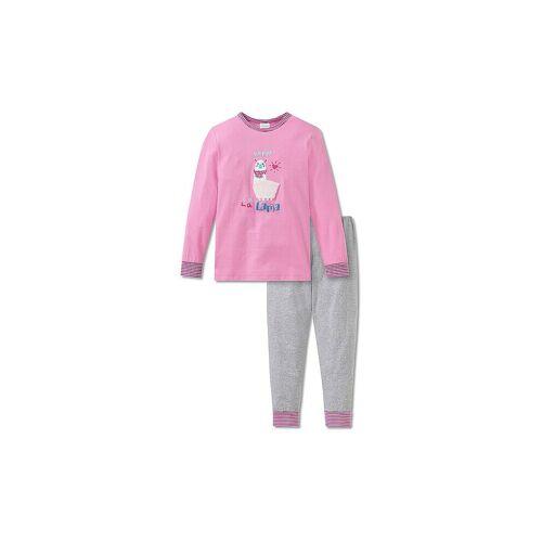 SCHIESSER Mädchen Pyjama Girls World rosa   104