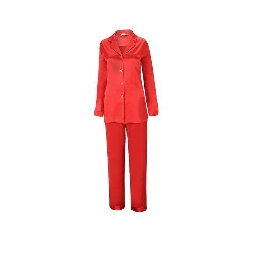 BITZER Seiden-Pyjama rot   XL