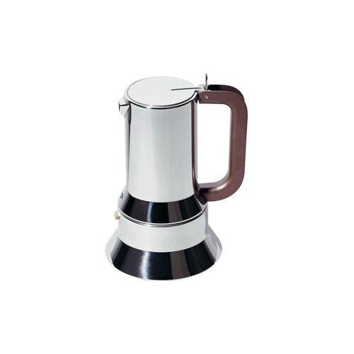Alessi Espressomaschine / 10 Tassen silber