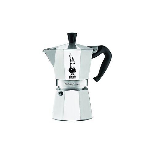 Bialetti Espressokocher Moka 3 Tassen silber