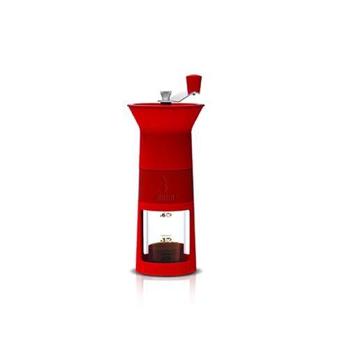 Bialetti Kaffeemühle händisch rot  rot