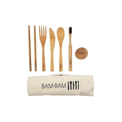 COOKUT Bambus-Besteckset braun