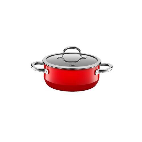 SILIT Bratentopf mit Deckel 20cm/2,4l (Passion Red) Silargan rot   21 0129 7031