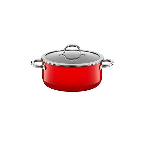 SILIT Bratentopf mit Deckel 24cm/4,4l (Passion Red) Silargan rot   21 0129 7048