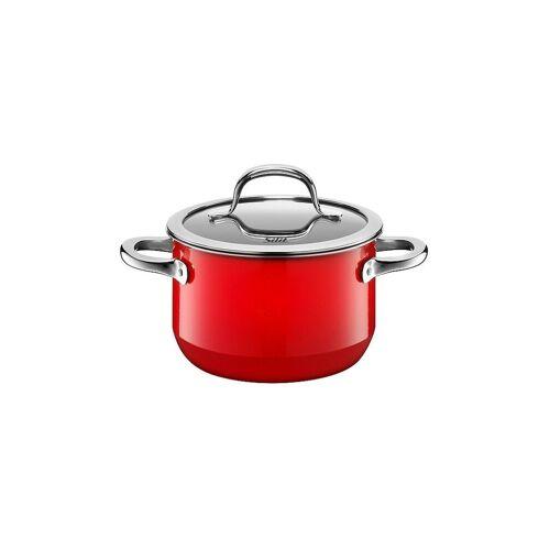 SILIT Fleischtopf mit Deckel 16cm/2l (Passion Red) Silargan rot   21 0229 7055