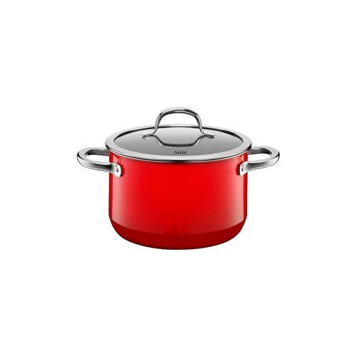 SILIT Fleischtopf mit Deckel 20cm/3,7l (Passion Red) Silargan rot   21 0229 7062