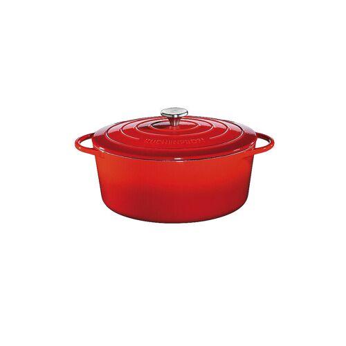 KÜCHENPROFI Gusseisen Bratentopf oval 35cm Rot rot