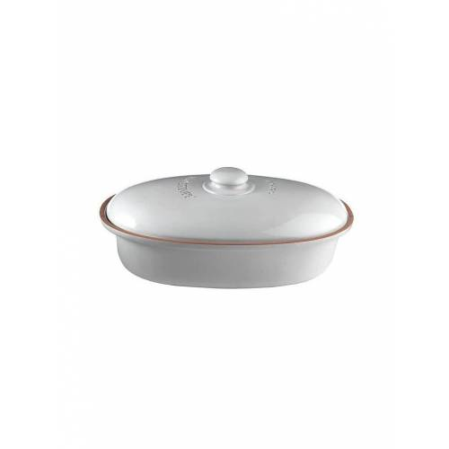 RÖMERTOPF Brottopf oval 26x44cm Weiss weiß