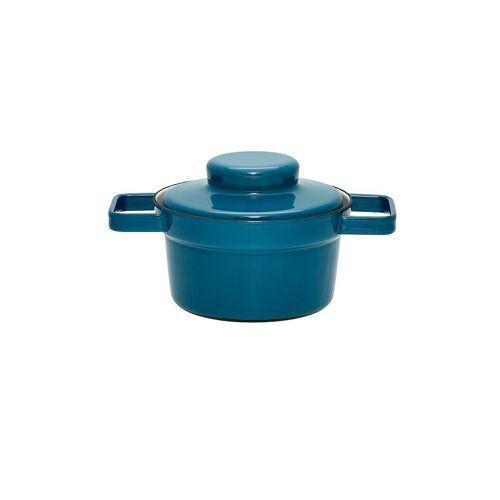 RIESS Emaille Topf mit Deckel Aromapot - Truehomeware 16cm 0,75l blau