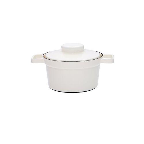 RIESS Emaille Topf mit Deckel Aromapot - Truehomeware 20cm 1,75l weiß