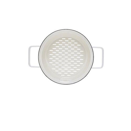 RIESS Emaille Dünsteinsatz Aromapot - Truehomewear 20cm weiß