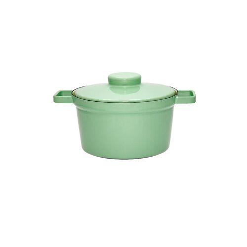 RIESS Emaille Topf mit Deckel Aromapot - Truehomeware 24cm 3,5l  grün