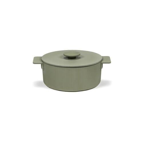 SERAX Kochtopf Surface - Enamel Cast Iron 23cm/3l (Camogreen) grün