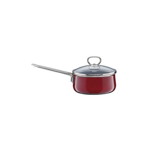 """RIESS Steilkasserolle mit Glasdeckel """"Rosso"""" 16cm/1l rot   0730-8"""