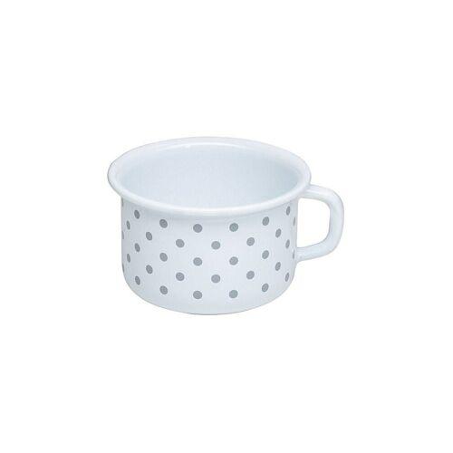 RIESS Kaffeeschale 10cm / 0,4l Pünktchen Grau weiß   0299-066