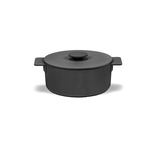 "SERAX Kochtopf ""Surface - Enamel Cast Iron"" 23cm/3l (Schwarz) schwarz   B8718102B"