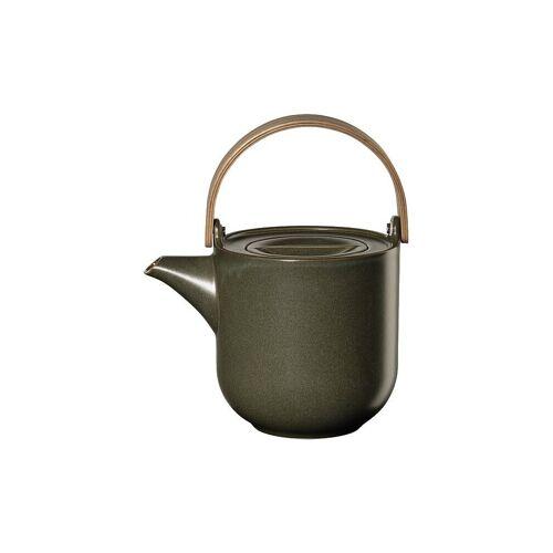 ASA Teekanne mit Holzgriff Coppa 1l (Nori) grün