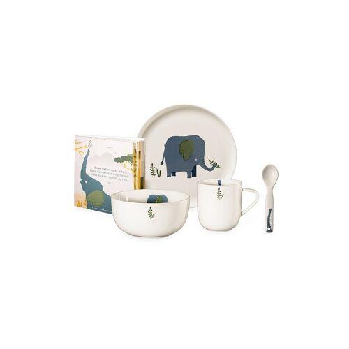 ASA Kinder Porzellanset 5-tlg. Elefant blau