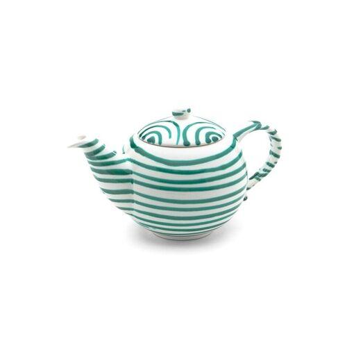 GMUNDNER KERAMIK Tee-Kanne glatt Grün Geflammt 1,5l grün
