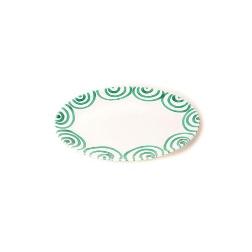 GMUNDNER KERAMIK Platte oval Grün Geflammt 33x26cm grün