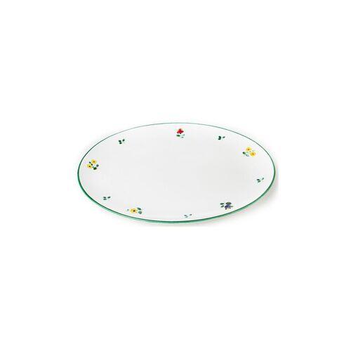 GMUNDNER KERAMIK Platte oval Streublumen 33x26cm bunt