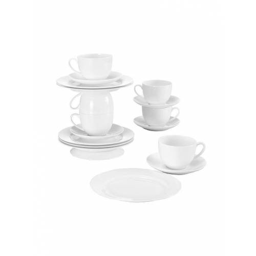 MAXWELL & WILLIAMS Porzellan Kaffee-Set Cashmere 18-tlg. weiß