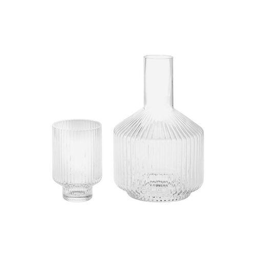 RIVERDALE Wasserkaraffe mit Glas Evi 25cm