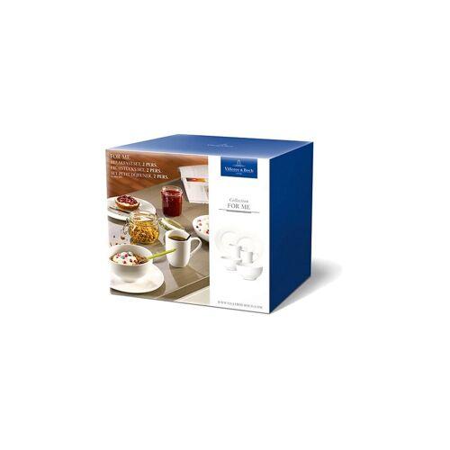 Villeroy & Boch For Me Frühstück-Set für 2 Personen 6-tlg. weiß