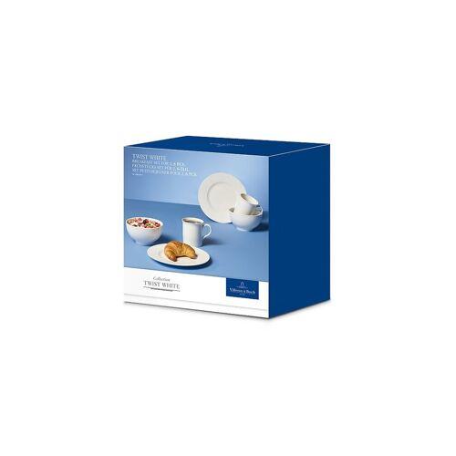 Villeroy & Boch Frühstücks-Set für Zwei 6-tlg Twist White weiß