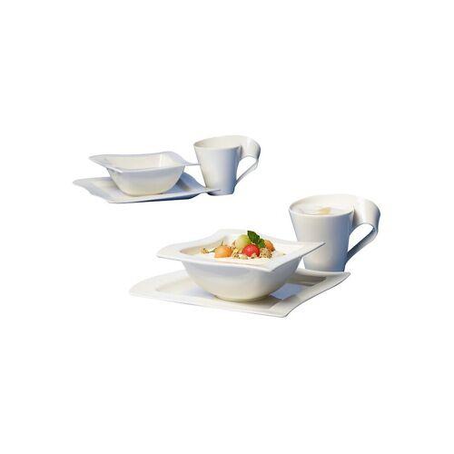 Villeroy & Boch Frühstücks Set 6-tlg. New Wave  für 2 Personen weiß