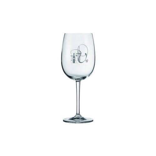 """RAEDER Rotweinglas 22cm """"Flasche und Glas""""   10411"""