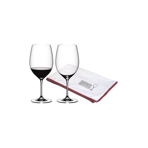 RIEDEL Rotweinglas 2er Set Vinum mit Poliertuch   6416/0-POL