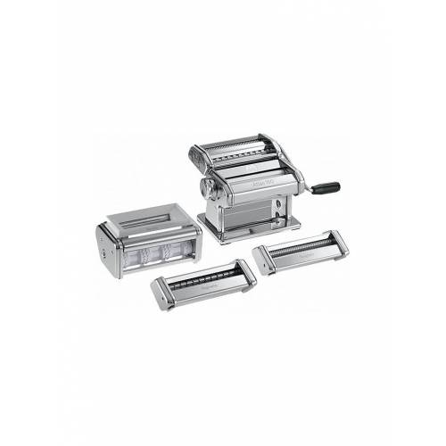 MARCATO Nudelmaschine mit Zubehör Multipasta-Set silber