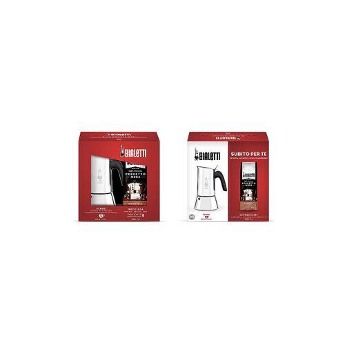 Bialetti Kaffeekocher Venus 4 Tassen inkl. Nocciola 200g silber   JE3534