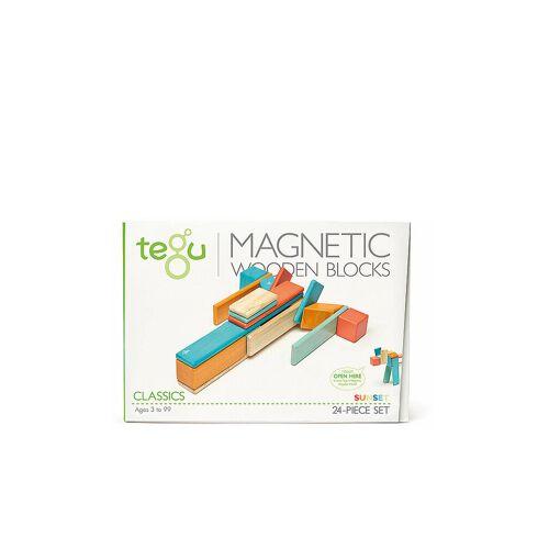 TEGU 24 Magnetische Holzbausteine orange blau