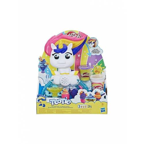 PLAY-DOH Knete - Buntes Einhorn Softeis-Set mit 3 Dosen Play-Doh und Strudelknete