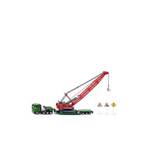 SIKU Schwertransport mit Seilbagger und Begleitfahrzeug