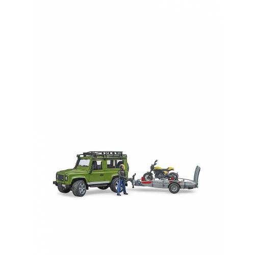 BRUDER Land Rover Defender mit Anhänger 02589 Profi